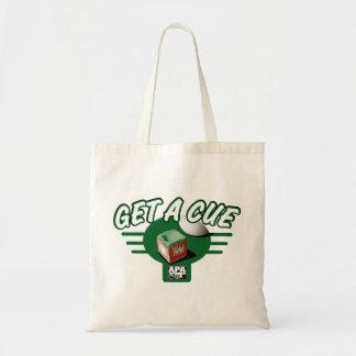 Get A Cue Tote Bag