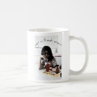 Get a fresh start basic white mug