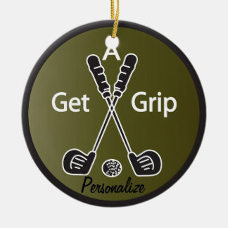 Get a Grip Golf Christmas Ornament