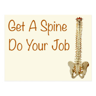 Get a Spine Do Your Job Postcards
