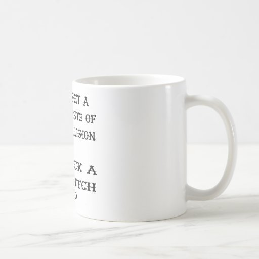 Get A Taste Religion Lick A Witch Basic White Mug