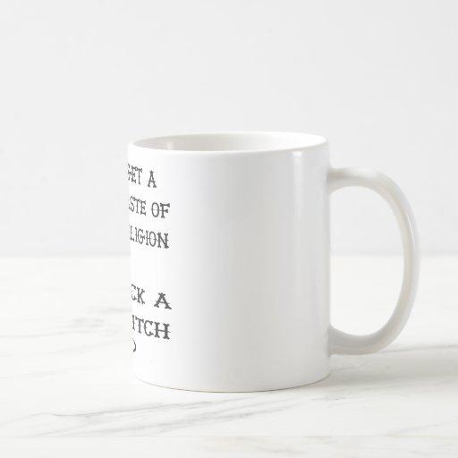 Get A Taste Religion Lick A Witch Classic White Coffee Mug