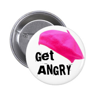 Get Angry Pinback Button