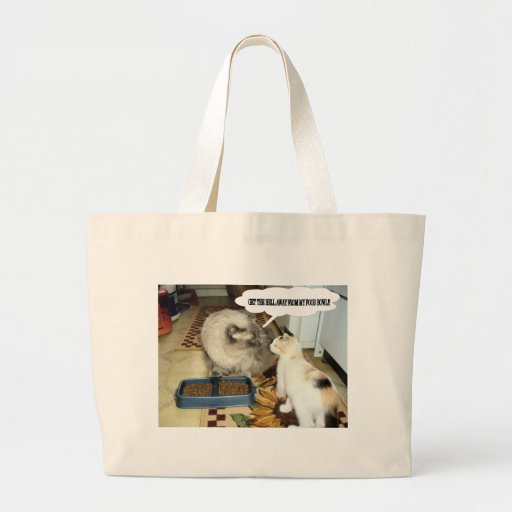 Get Away From My Food Bowl Canvas Bags