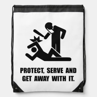 Get Away With It Drawstring Bag