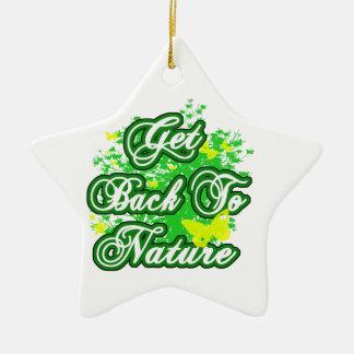 Get Back To Nature Ceramic Star Decoration