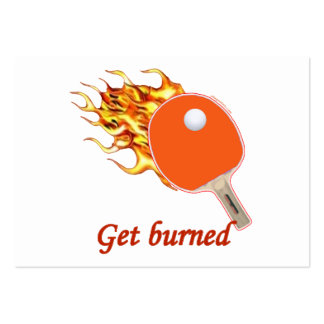 Get Burned Flaming Ping Pong Pack Of Chubby Business Cards