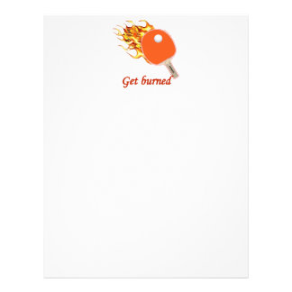 Get Burned Flaming Ping Pong Personalized Flyer