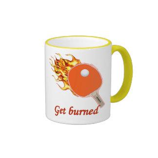Get Burned Flaming Ping Pong Ringer Mug
