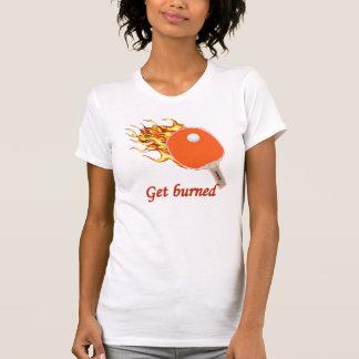 Get Burned Flaming Ping Pong Shirts
