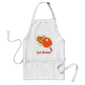 Get Burned Flaming Ping Pong Standard Apron
