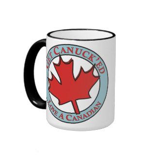 Get Canuck'ed Love A Canadian Ringer Mug