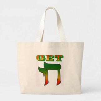 Get Chai Jumbo Tote Bag