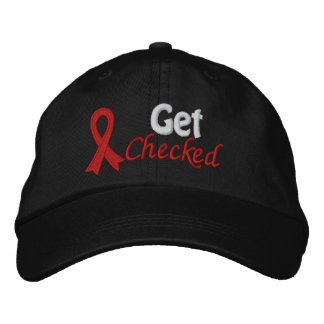 Get Checked - Heart Disease Awareness Embroidered Baseball Cap