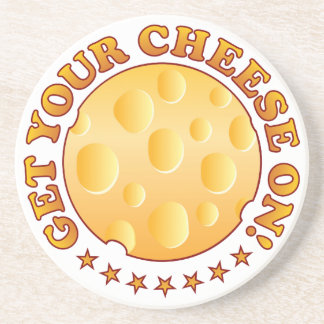 Get Cheese Brown Drink Coaster