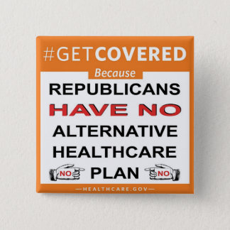 Get Covered Because. . . 15 Cm Square Badge