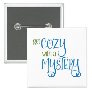 Get Cozy with a Mystery (blue and green) 15 Cm Square Badge