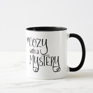 Get Cozy with a Mystery (cozy mysteries - black) Mug