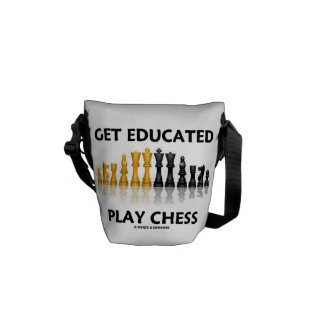 Get Educated Play Chess (Reflective Chess Set) Commuter Bag