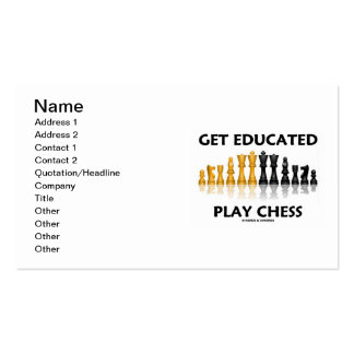 Get Educated Play Chess (Reflective Chess Set) Pack Of Standard Business Cards
