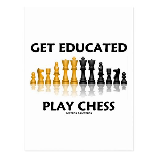 Get Educated Play Chess (Reflective Chess Set) Postcards