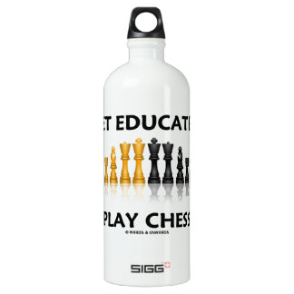 Get Educated Play Chess (Reflective Chess Set) SIGG Traveller 1.0L Water Bottle