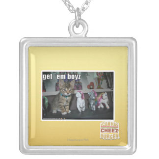 Get em boyz silver plated necklace