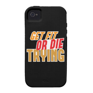 GET FIT or DIE TRYING iPhone 4 Cases