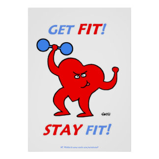 Get Fit / Stay Fit X-Large Poster For Fitness Gym