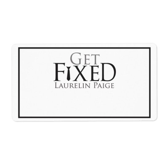 Get FIXED Bookplate Shipping Label
