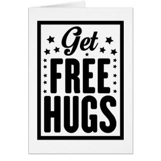 Get Free Hugs Card