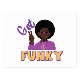 Get Funky Postcard
