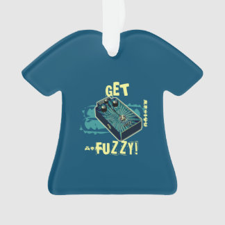 Get Fuzzy! Fuzz Guitar Pedal Blue Psychedelic Ornament