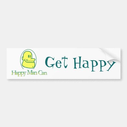 Get Happy Bumper Sticker