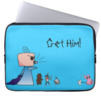 """Get Him"" Laptop Sleeve - An Angry Baby Design"