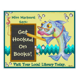 Get Hooked On Books! Poster