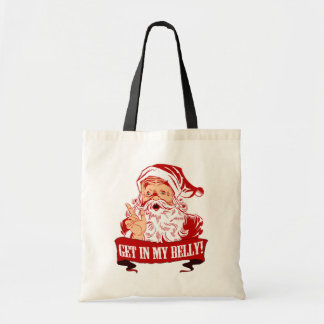Get in My Belly Funny Christmas Bags