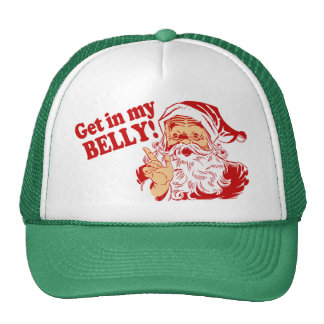 Get in My Belly Funny Christmas Cap