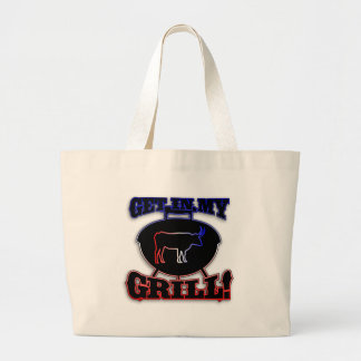 Get In My Grill American Barbecue BBQ Meat Canvas Bag