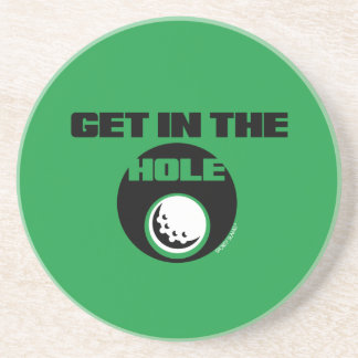 GET IN THE HOLE- SPORTY SLANG- GOLF ORNAMENT COASTER