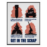 Get In The Scrap -- Border Poster