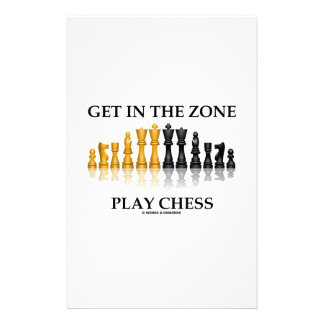 Get In The Zone Play Chess Customized Stationery