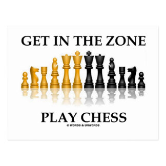 Get In The Zone Play Chess Postcard