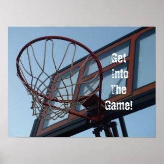 Get IntoTheGame!  Basketball Poster