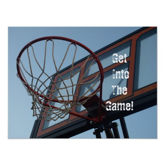Get IntoTheGame!  Basketball Poster