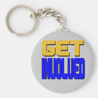 Get Involved Keychain silver pictured