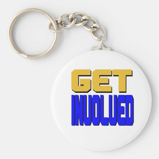Get Involved Keychain (standard white pictured)