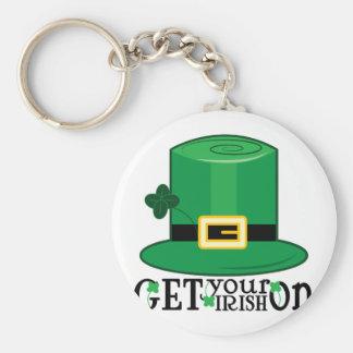 Get Irish On Basic Round Button Key Ring