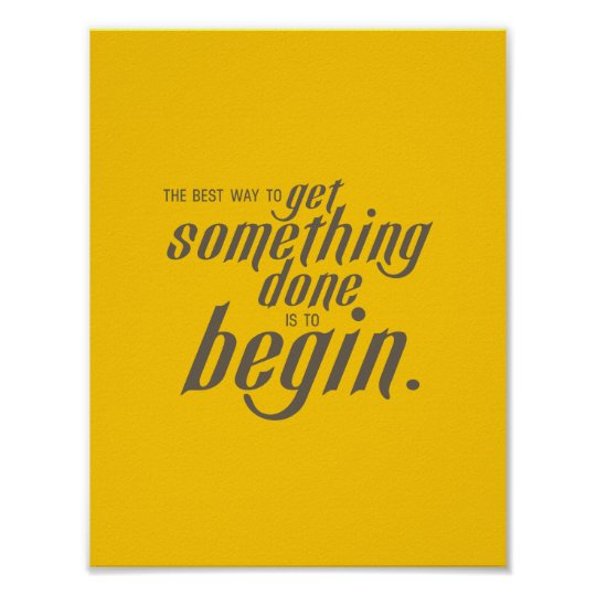 Get It Done Inspirational Typography Poster