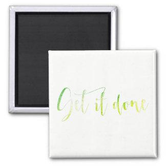 Get it Done Work Organization Mint Green Office Magnet
